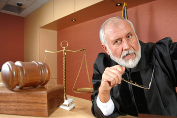 Picture of Judge at a Trial