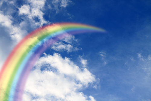 Rainbow in Sky. Dream Symbol.