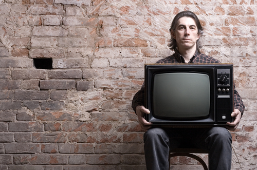 Man with Television